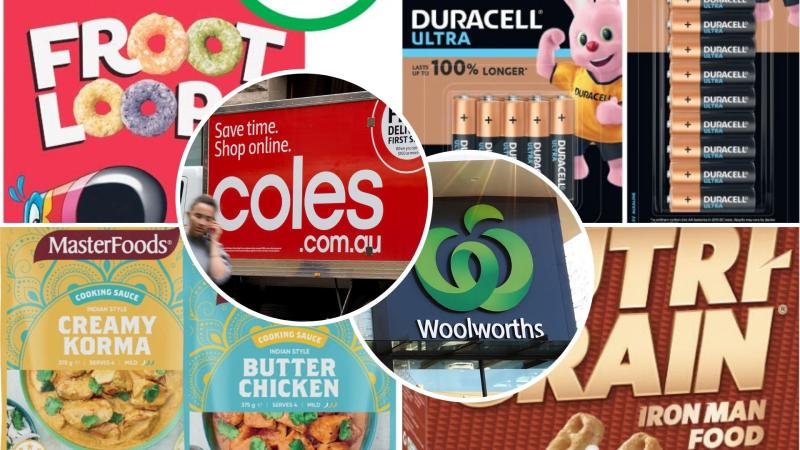 Breakfast cereal, batteries and cooking sauce on sale for half-price at Woolworths and Coles.