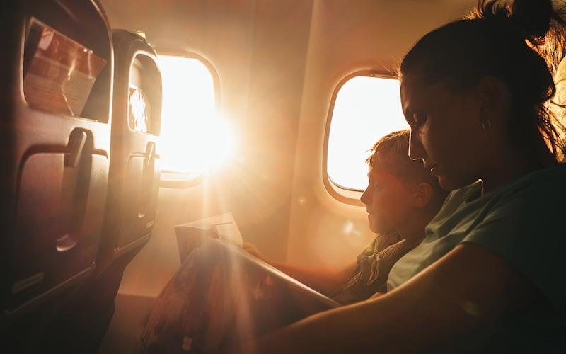 Flying with little ones: not the easiest of tasks - This content is subject to copyright.