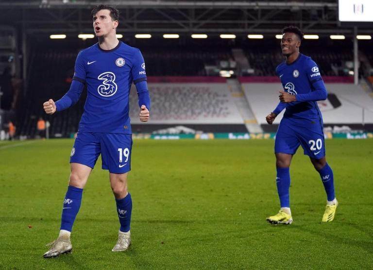 Mason Mount (left) scored the winner in Chelsea's 1-0 victory at Fulham