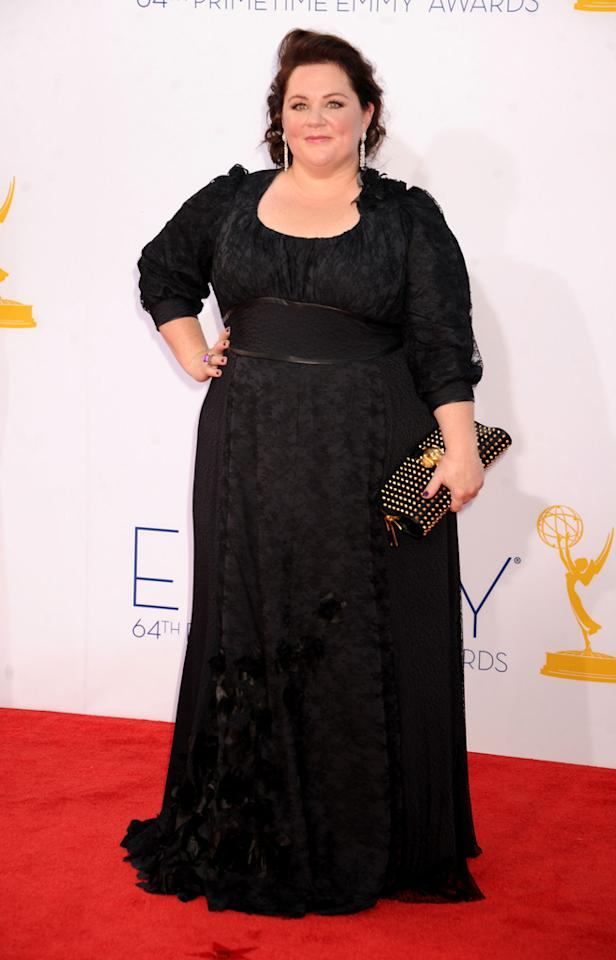 Melissa McCarthy arrives at the 64th Primetime Emmy Awards at the Nokia Theatre in Los Angeles on September 23, 2012.