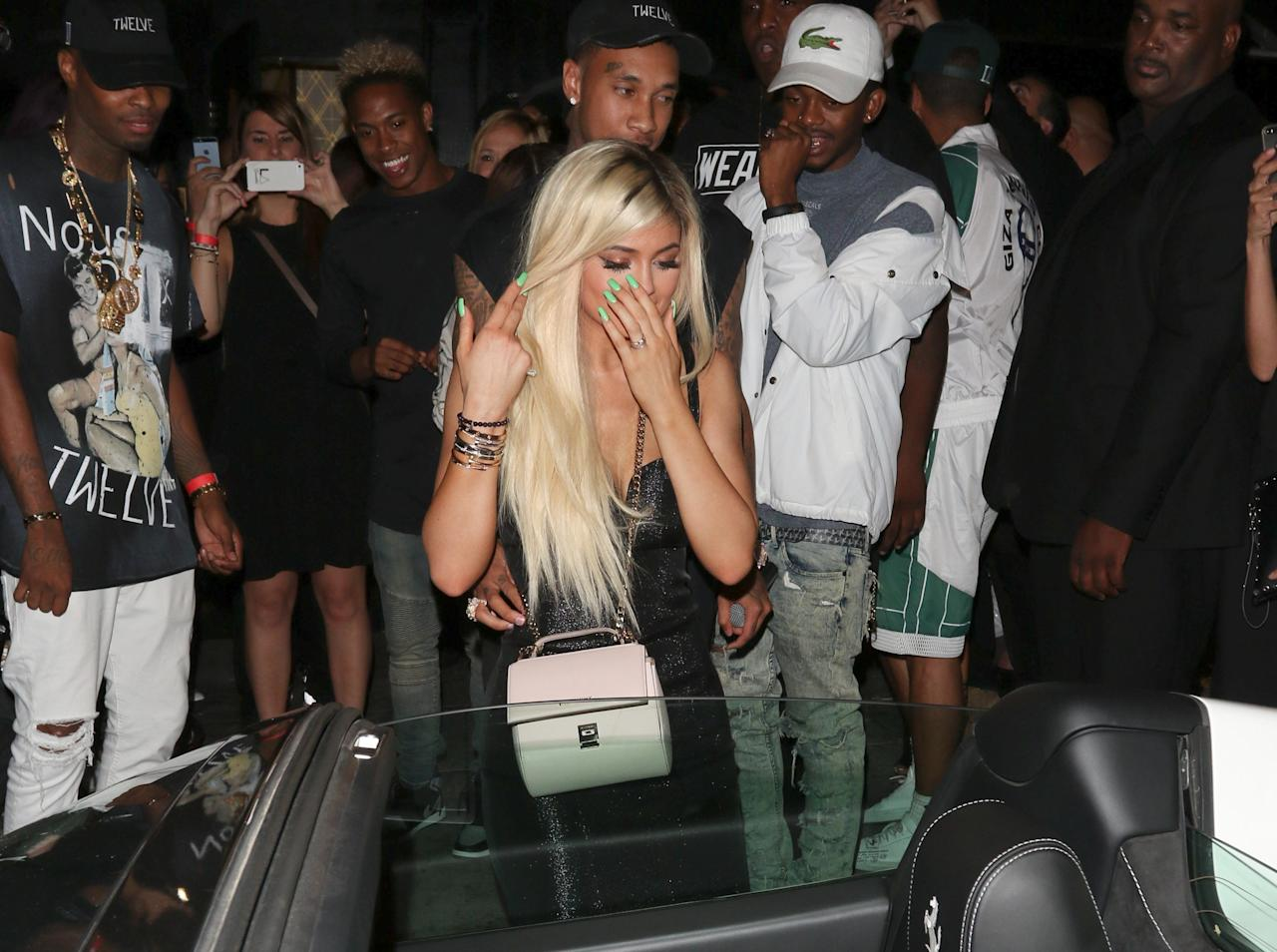 """<p>Did you get a car when you turned 18? It probably wasn't a brand-new $300,000+ Ferrari, was it? Tyga gave Kylie her a <a rel=""""nofollow"""" href=""""http://www.teenvogue.com/story/kylie-jenner-birthday-tyga-new-car?mbid=synd_yahooentertainment"""">slick white sports car</a> for her birthday last year, though it was <a rel=""""nofollow"""" href=""""http://www.teenvogue.com/story/kylie-jenner-birthday-ferrari-tyga-lease?mbid=synd_yahooentertainment"""">rumored he leased it</a> instead of buying it outright. Either way, we'll take it.</p>"""