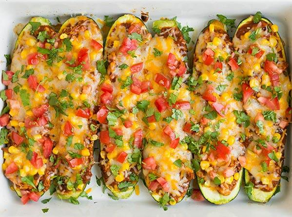 "<h2>3. Chicken Enchilada Zucchini Boats</h2> <p>If you'd rather nix the corn, swap in creamy avocado.</p> <p><a class=""cta-button-link"" href=""https://www.cookingclassy.com/chicken-enchilada-zucchini-boats/"" target=""_blank"">Get the recipe</a></p>"