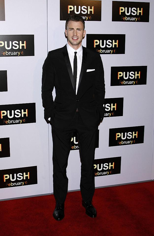 "<a href=""http://movies.yahoo.com/movie/contributor/1803006988"">Chris Evans</a> at the Los Angeles premiere of <a href=""http://movies.yahoo.com/movie/1809922967/info"">Push</a> - 01/29/2009"