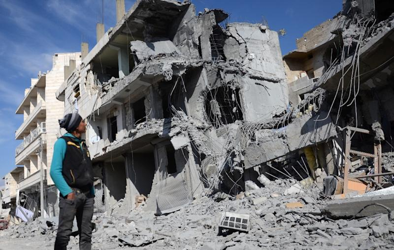 A suicide bombing in Al-Bab had killed 51 people on Friday as the Syria peace talks opened (AFP Photo/Nazeer al-Khatib)