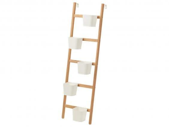 A vertical plant stand will free up floor space which is great if you're limited on room (Ikea)