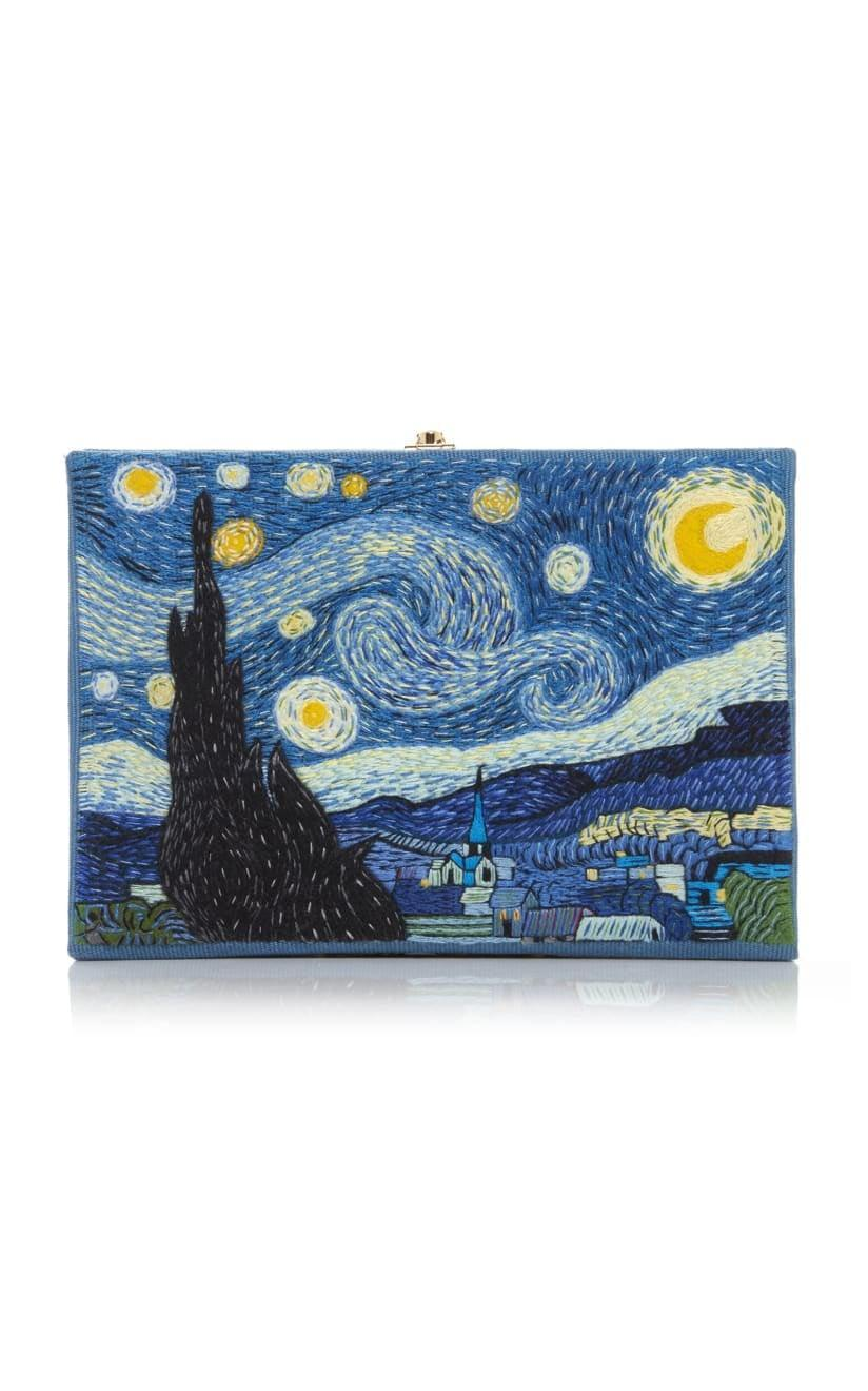 <p>This <span>Olympia Le Tan Van Gogh Appliquéd Embroidered Canvas Clutch</span> ($1,345) is truly a work of art.</p>