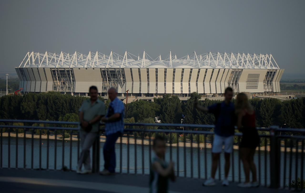 The Rostov Arena stadium is seen under construction ahead of the 2018 FIFA World Cup in Rostov-On-Don, Russia, July 24, 2017. REUTERS/David Mdzinarishvili