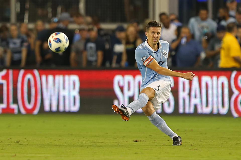 Sporting KC's Matt Besler (pictured) will need to find chemistry with a new center back partner after Ike Opara's trade. (Getty)
