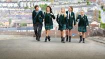 "<p>Admittedly, <em>Derry Girls</em> is a TV series and not a movie, but with just a dozen half-hour episodes per season, you can practically an entire season in the time it takes to watch a long movie. And, once you start, you just might take it all in one sitting: The show follows a group of high schoolers in Northern Ireland in the 1990s as they get up to hilarious hijinx. It's perfect for fans of shows like <em><a href=""https://www.netflix.com/watch/70128874"" rel=""nofollow noopener"" target=""_blank"" data-ylk=""slk:Skins"" class=""link rapid-noclick-resp"">Skins</a></em> or <em><a href=""https://www.netflix.com/watch/80117713"" rel=""nofollow noopener"" target=""_blank"" data-ylk=""slk:Everything Sucks"" class=""link rapid-noclick-resp"">Everything Sucks</a></em>.</p><p><a class=""link rapid-noclick-resp"" href=""https://www.netflix.com/title/80238565"" rel=""nofollow noopener"" target=""_blank"" data-ylk=""slk:WATCH NOW"">WATCH NOW</a></p>"