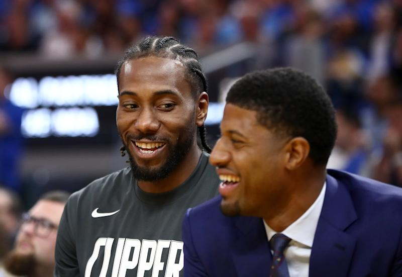 Both Kawhi Leonard and Paul George have said they originally wanted to join forces in San Antonio two years ago. (Ezra Shaw/Getty Images)