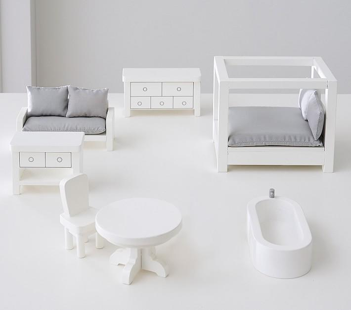 "<p>Searching for a contemporary miniature furniture kit that spans several different rooms? This intricately crafted set features a canopy bed, upholstered sofa, beech wood dresser, nightstand, dining table, chairs and a lacquered bath tub.</p> <p><strong><em>Shop Now:</em></strong> <em>Pottery Barn</em> <em>Glenview Dollhouse Accessory Set, $69, <a href=""https://pbkids.7eer.net/c/249354/267850/4333?subId1=MSLTheMiniaturesTrendIsHavingaMomentTryOneofOurFavoriteKitssbamseyDIYGal7988105202009I&u=https%3A%2F%2Fwww.potterybarnkids.com%2Fproducts%2Fglenview-dollhouse-accessory-set%2F"" rel=""nofollow noopener"" target=""_blank"" data-ylk=""slk:potterybarnkids.com"" class=""link rapid-noclick-resp"">potterybarnkids.com</a></em><em>. </em></p>"