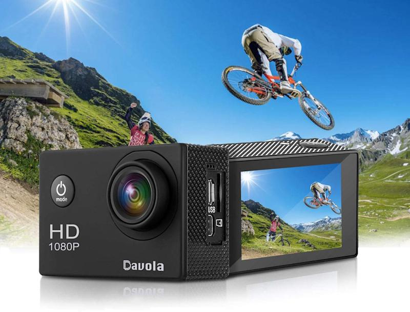 Get into action with the Davola Action Cam. (Photo: Amazon)