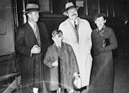 """<p>Hemingway was the father of three boys and had a <a href=""""https://theconversation.com/how-hemingway-felt-about-fatherhood-139801"""" rel=""""nofollow noopener"""" target=""""_blank"""" data-ylk=""""slk:complicated relationship"""" class=""""link rapid-noclick-resp"""">complicated relationship</a> with fatherhood. The novelist welcomed his eldest son, John """"Bumby"""" Hemingway, with his first wife when he was 24 years old. During his second marriage to Pauline Pfeiffer, he had Gregory and Patrick. </p>"""