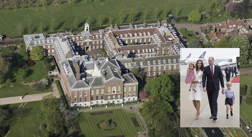 <p>The Duke and Duchess of Cambridge moved into Apartment 1A at Kensington Palace back in 2017 so that the couple could focus on their regal duties and Prince George could attend school in London. Prior to the move, the family spent most of their time at Anmer Hall in Norfolk which sits pretty on the Queen's Sandringham Estate. The couple still escape to the countryside for a relaxing break during the school holidays with their three children: Charlotte, George and Louis. <em>[Photo: Getty] </em> </p>