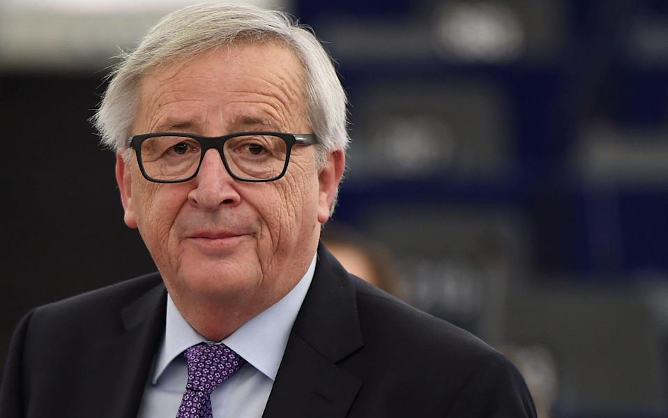 Mr Juncker led the EU executive from 2014-2019 before Mrs von der Leyen took over.  - AFP