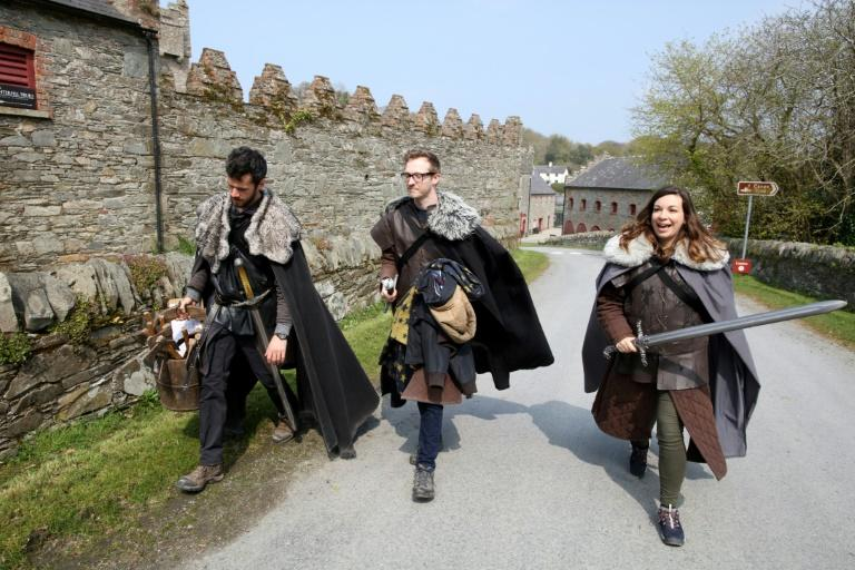 """Game of Thrones"" fans take part in the tourist experience at the Castle Ward Estate in Strangford, Northern Ireland, the location of Winterfell in the hit TV series that has triggered a tourism boom in the British province"