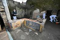 Last month, archaeologists announced the discovery of a thermopolium, a fast-food bar, with traces of food and wine