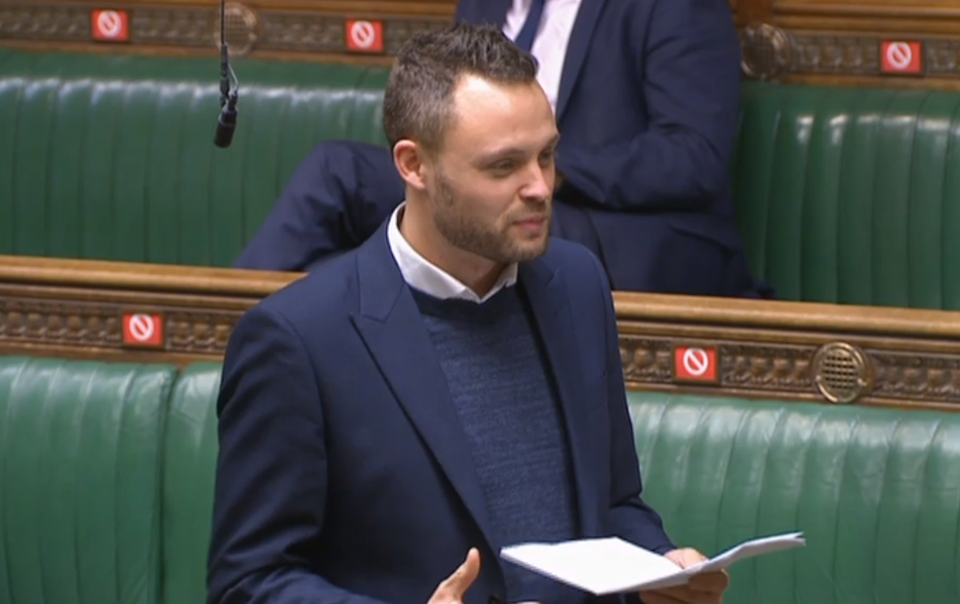 Conservative MP Ben Bradley makes a speech to the House of Commons (PA)