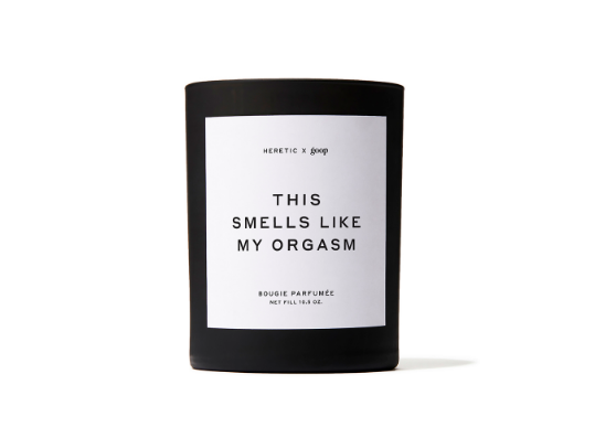 This Smells Like My Orgasm Candle is available to US customers on the website. (Goop)
