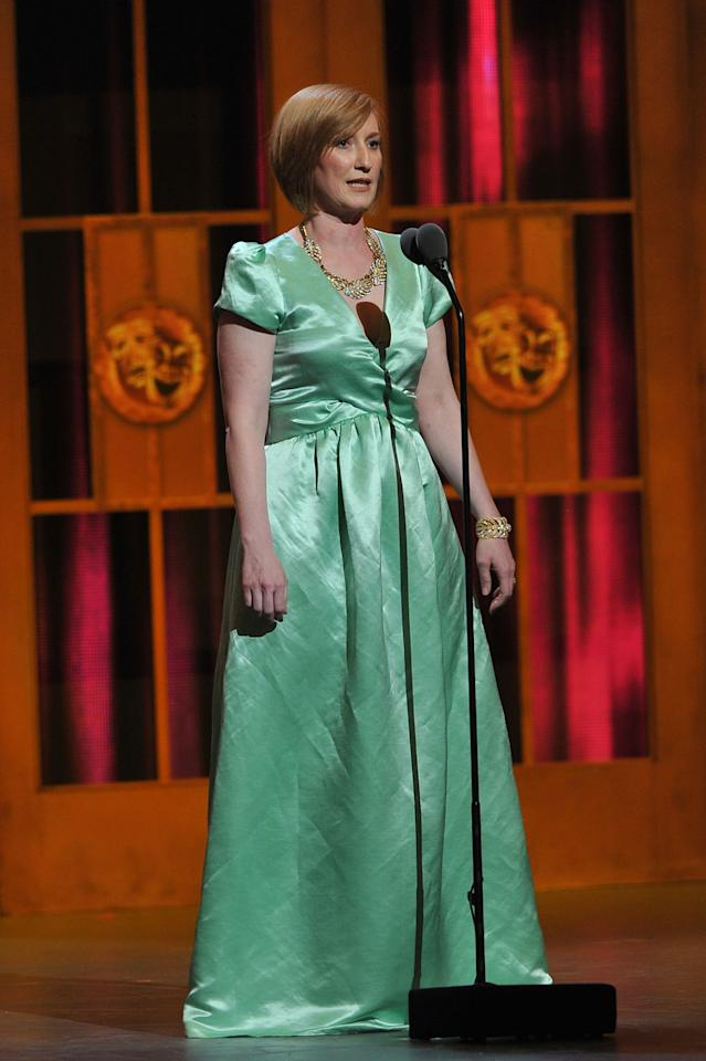 NEW YORK, NY - JUNE 10:  Executive Director at American Theatre Wing Heather Hitchens onstage at the 66th Annual Tony Awards at The Beacon Theatre on June 10, 2012 in New York City.  (Photo by Theo Wargo/Getty Images)