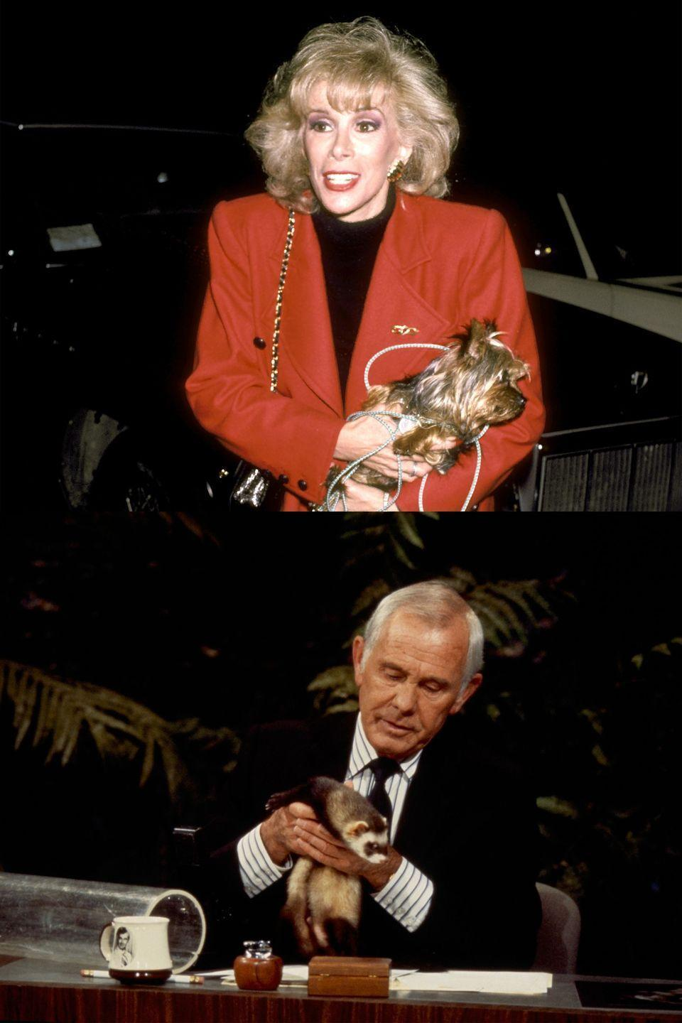 "<p>Long before she was eviscerating fugly red carpet dresses, Rivers was a staple of <em>The Tonight Show With Johnny Carson</em>. She filled in for the host frequently and eventually became the show's permanent guest host. So it was quite a shock when she left to host her own show,<em> The Late Show Starring Joan Rivers</em>. Carson felt betrayed and <a href=""http://people.com/celebrity/joan-rivers-and-johnny-carsons-history-on-the-tonight-show/"" rel=""nofollow noopener"" target=""_blank"" data-ylk=""slk:banned her"" class=""link rapid-noclick-resp"">banned her</a> from appearing on his show, which his replacement Jay Leno continued through his tenure. It wasn't until Jimmy Fallon took over the reins in 2014 that Rivers was <a href=""http://variety.com/2014/tv/news/joan-rivers-returns-to-tonight-show-after-decades-long-ban-1201109889/"" rel=""nofollow noopener"" target=""_blank"" data-ylk=""slk:finally allowed"" class=""link rapid-noclick-resp"">finally allowed</a> to grace the set again.</p>"