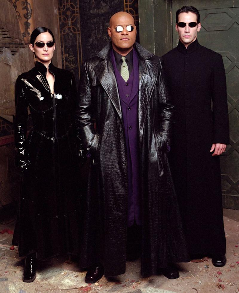 Carrie-Anne Moss, Laurence Fishburne and Keanu Reeves in The Matrix Revolutions (Warner Bros.)