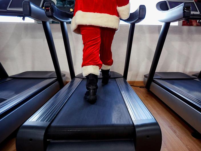 santa on the treadmill