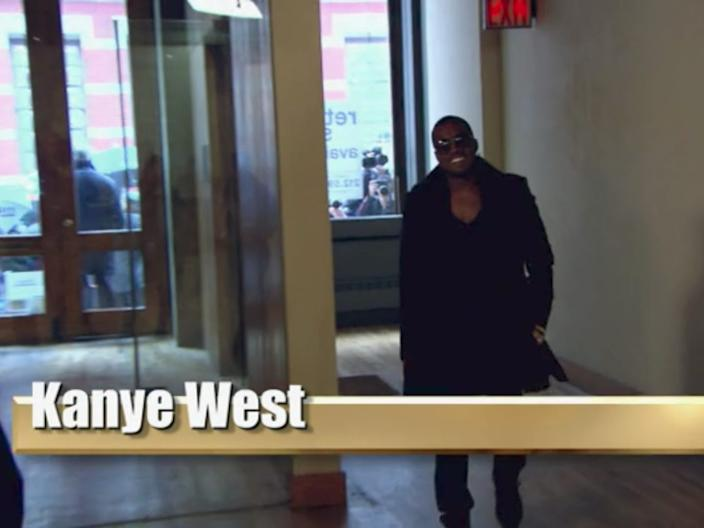 Kanye West made his debut on the reality show.