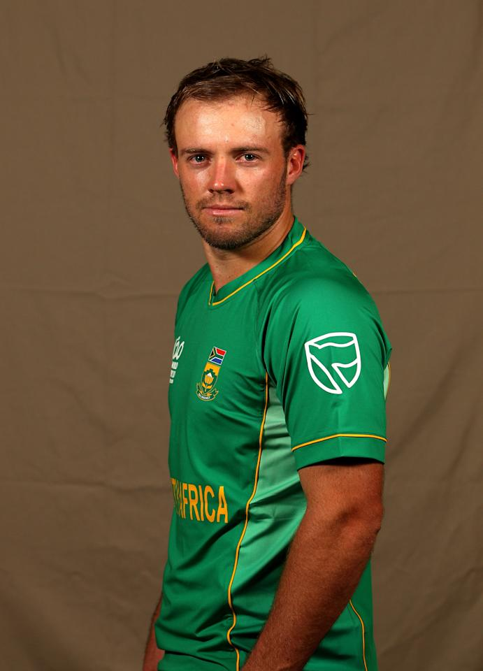 BRIDGETOWN, BARBADOS - APRIL 26:  Ab de Villiers of South Africa T20 squad poses for a portrait, on April 26, 2010 in Bridgetown, Barbados.  (Photo by Michael Steele/Getty Images)