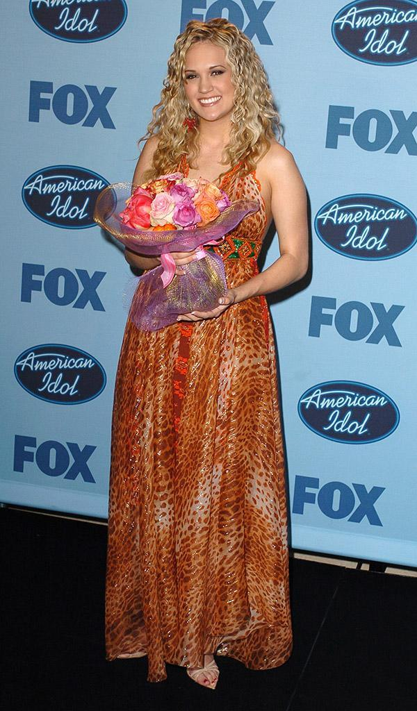"""Carrie Underwood during """"American Idol"""" Season 4 - Finale - Press Room at Kodak Theatre in Hollywood, California, United States. (Photo by SGranitz/WireImage)"""