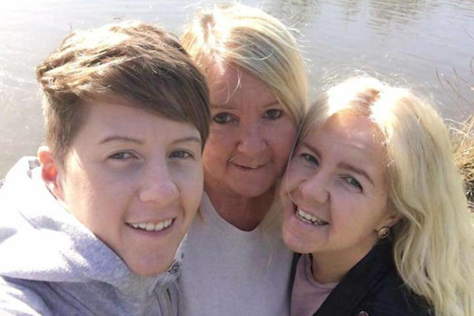 Cassie Hayes, left, with her mother Tracy, centre, and sister Nadine, right (Picture: PA)