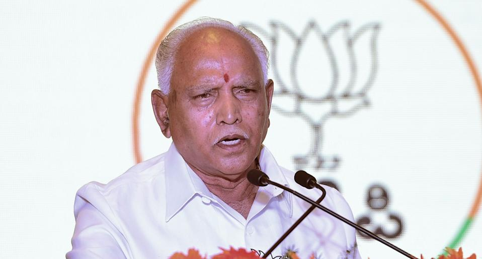 Karnataka Chief Minister BS Yediyurappa. Photo: Getty Images