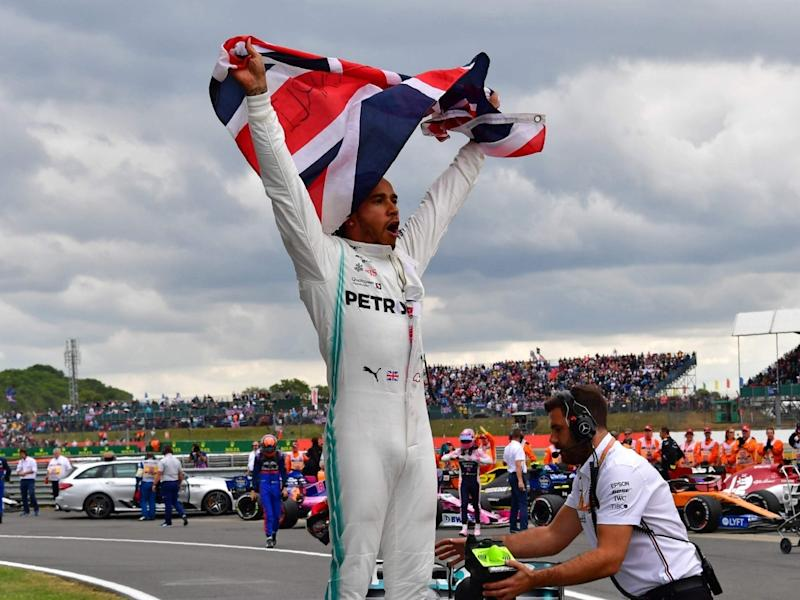 Lewis Hamilton won his home Grand Prix at Silverstone last year: AFP