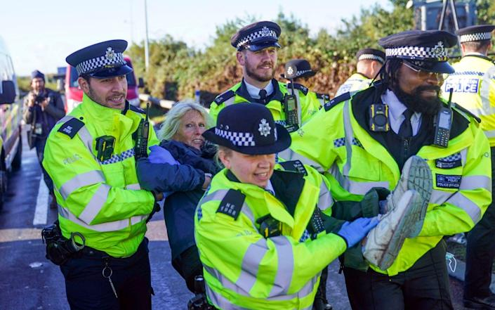 Protesters have defied court injunctions to repeatedly target the M25 - PA