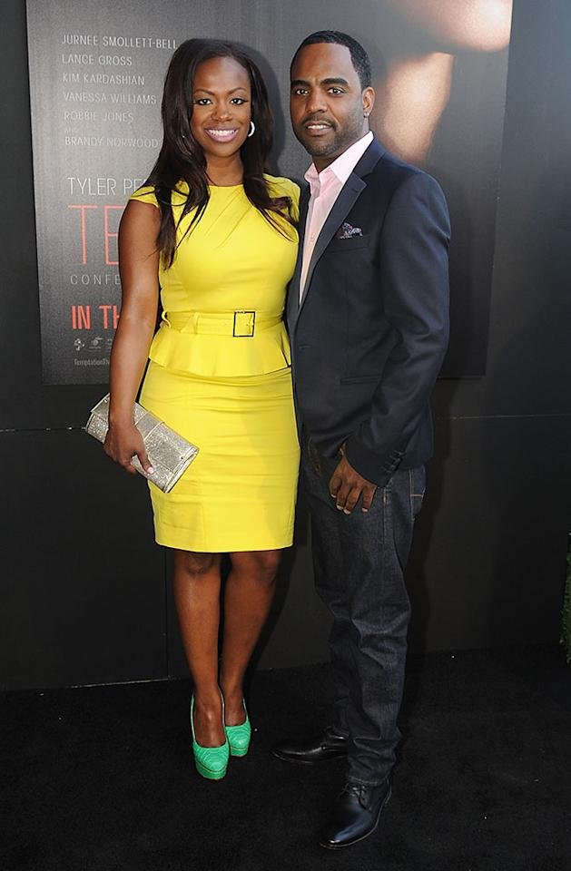 "Kandi Burruss and Todd Tucker attend the ""Tyler Perry's Temptation: Confessions Of A Marriage Counselor"" Atlanta Screening at AMC Parkway Pointe on March 16, 2013 in Atlanta, Georgia."
