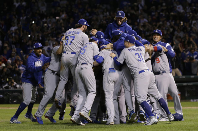 The Los Angeles Dodgers are going to the World Series. (AP Photo/Nam Y. Huh)