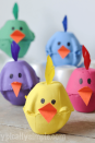 """<p>Our favorite projects are the ones that involve recycling. This sweet chick DIY, which features leftover egg carton pieces, fits the bill!</p><p><strong>Get the tutorial at <a href=""""https://typicallysimple.com/spring-chicks-egg-carton-craft/"""" rel=""""nofollow noopener"""" target=""""_blank"""" data-ylk=""""slk:Typically Simple"""" class=""""link rapid-noclick-resp"""">Typically Simple</a>.</strong></p>"""