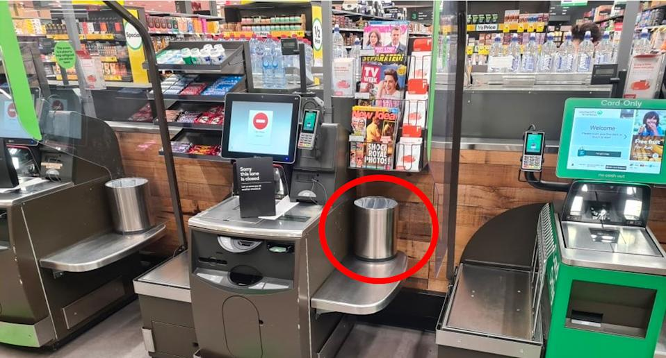 The two bins that upset the customer. Source: Facebook
