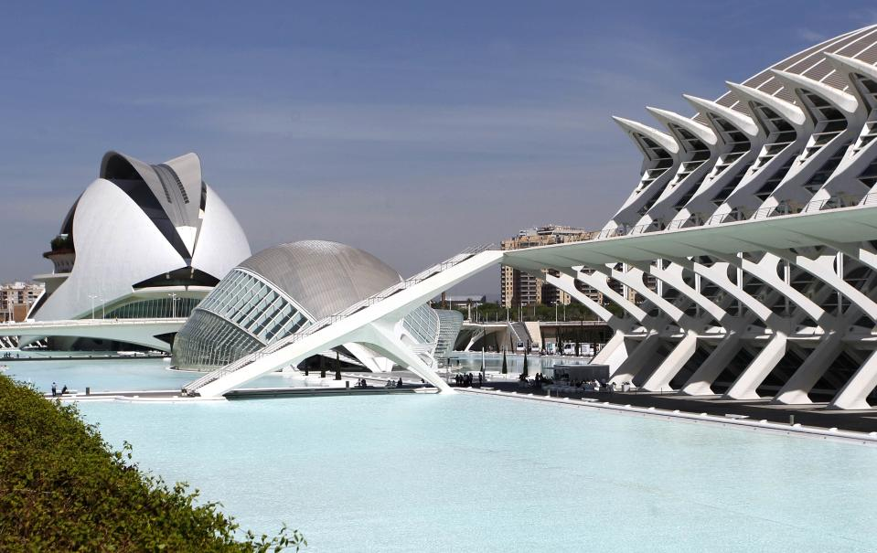 A view of the City of Arts and Sciences. Years of free spending, coupled with a hangover from a burst real estate bubble and the collapse of local banks, have put Valencia on the brink of being bailed out by the central government - which has huge budget problems of its own. (REUTERS/Heino Kalis)