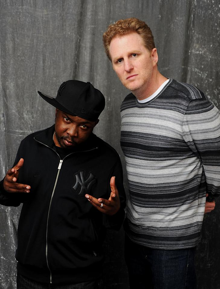 NEW YORK, NY - APRIL 27:  (L-R) Recording artist Phife Dawg of A Tribe Called Quest and director Michael Rapaport visit the Tribeca Film Festival 2011 portrait studio on April 27, 2011 in New York City.  (Photo by Andrew H. Walker/Getty Images for Tribeca Film Festival)