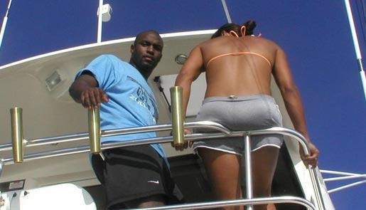 Nevin Shapiro and a second source said this photo of Williams was taken in 2003 aboard the booster's yacht.