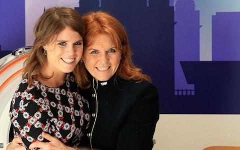 The Duchess of York and her youngest daughter, bride to be Princess Eugenie  - Credit: Peter Byrne/PA