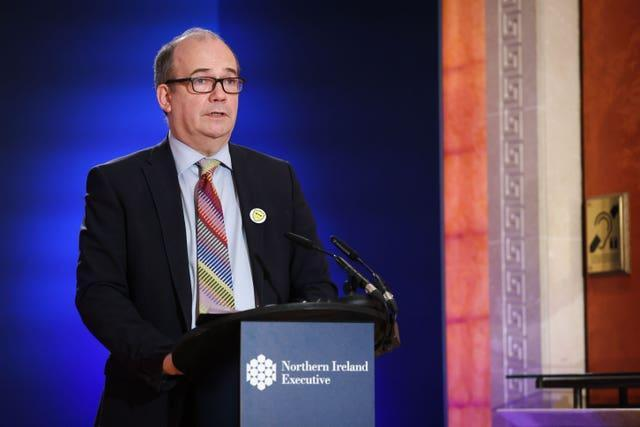 Chief medical officer, Dr Michael McBride during a Covid-19 update press conference(Kelvin Boyes/Press Eye/PA)