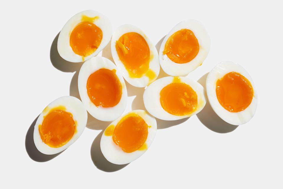"""<a href=""""https://www.bonappetit.com/recipe/jammy-soft-boiled-eggs?mbid=synd_yahoo_rss"""" rel=""""nofollow noopener"""" target=""""_blank"""" data-ylk=""""slk:See recipe."""" class=""""link rapid-noclick-resp"""">See recipe.</a>"""