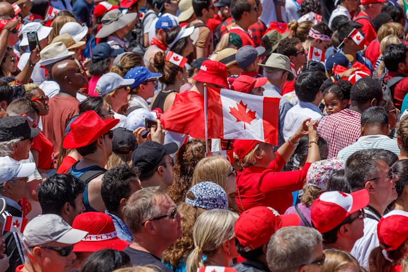 Last year's Canada Day celebrations at Parliament Hill drew a huge crowd. (Photo: Mark Horton via Getty Images)