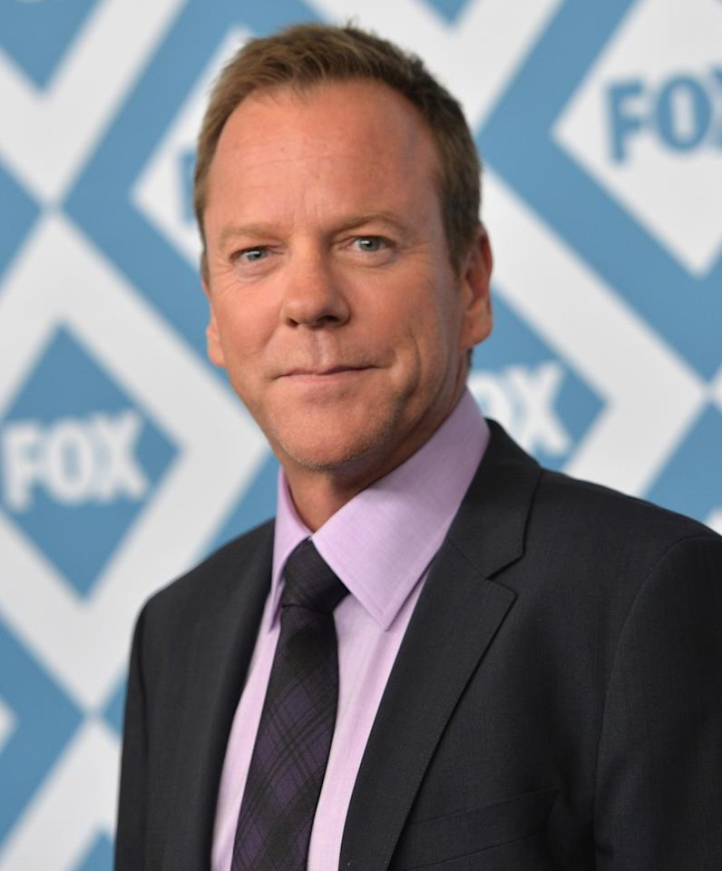 PASADENA, CA - JANUARY 13: Actor Kiefer Sutherland arrives to the 2014 Fox All-Star Party at the Langham Hotel on January 13, 2014 in Pasadena, California. (Photo by Alberto E. Rodriguez/Getty Images)