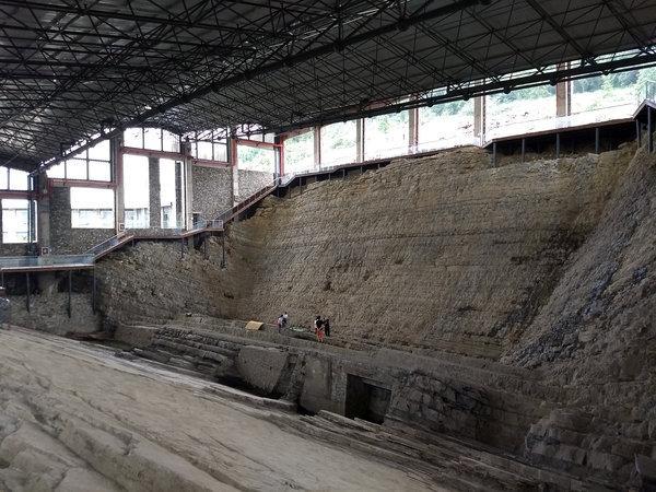 The quarry in China where the fossil was found. (SWNS)