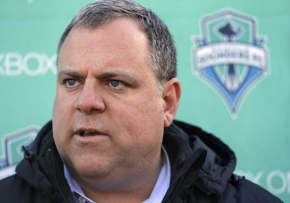 Seattle Sounders general manager Garth Lagerwey. (AP Photo/Elaine Thompson)