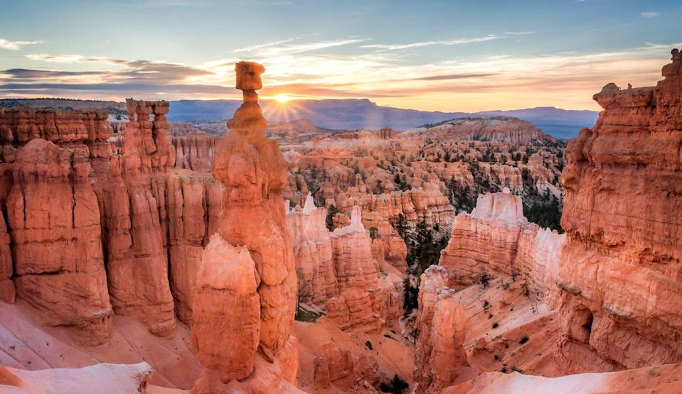 """<p>With their extraordinary landscapes, vast canyons, natural archways and the mighty Colorado River, the Rocky Mountains boast some of the world's most incredible scenery. It's no wonder that many of the USA's most awe-inspiring national parks can be found here, including Utah's 'Mighty Five' national parks, Canyonlands, Bryce Canyon, Zion and Arches, not to mention Arizona's iconic Grand Canyon.</p><p>One of the easiest and most comfortable ways to pack in so much spectacular scenery is undoubtedly onboard the Rocky Mountaineer train, where you can enjoy all the comforts of a luxury hotel - including first class service and exquisite food and drink – while admiring the views from panoramic windows.</p><p>Ride the Rocky Mountaineer from Denver to Las Vegas with Good Housekeeping in May 2022. </p><p><a class=""""link rapid-noclick-resp"""" href=""""https://www.goodhousekeepingholidays.com/tours/usa-southwest-rocky-mountaineer"""" rel=""""nofollow noopener"""" target=""""_blank"""" data-ylk=""""slk:FIND OUT MORE"""">FIND OUT MORE</a></p><p>Or, take the train on a journey through the Canadian Rockies, with stays in Vancouver, Lake Louise and Banff from April to October 2022. </p><p><a class=""""link rapid-noclick-resp"""" href=""""https://www.goodhousekeepingholidays.com/tours/canada-rocky-mountaineer"""" rel=""""nofollow noopener"""" target=""""_blank"""" data-ylk=""""slk:FIND OUT MORE"""">FIND OUT MORE</a></p>"""