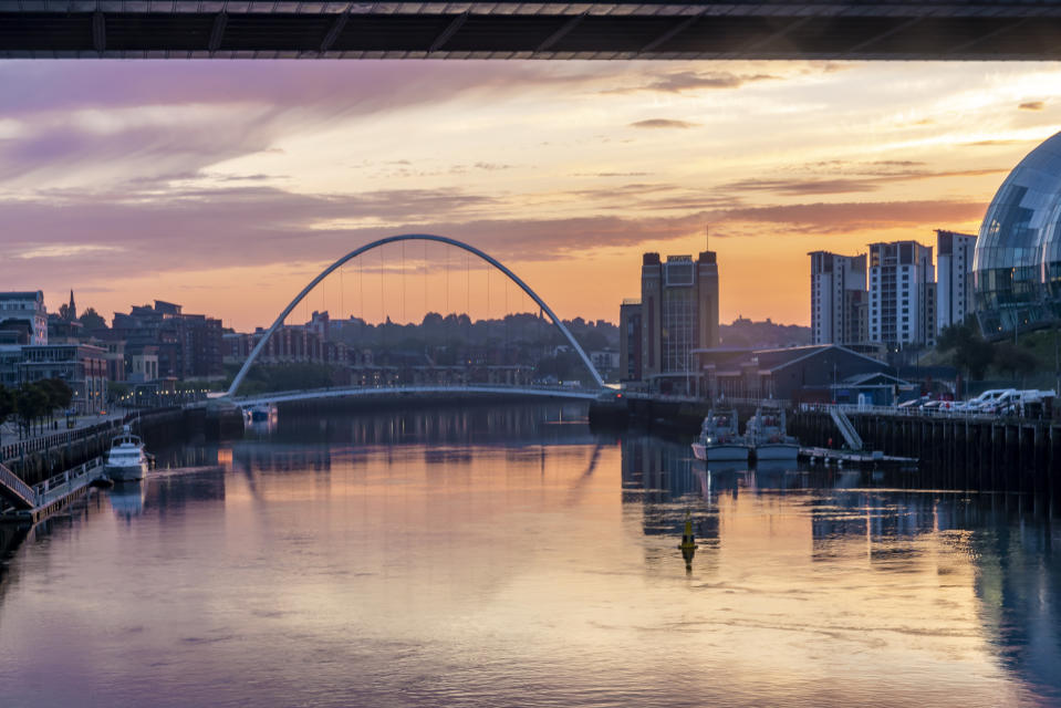 Newcastle-upon-Tyne has been highlighted as the area with most coronavirus infections at the end of a week that saw the city subjected to stricter lockdown measures (Getty)